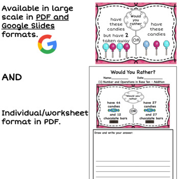 Would You Rather - Math Talks & Math Centers - Addition & Subtraction