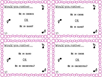 Would You Rather...? Music Edition