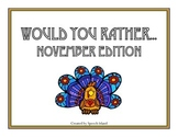 Would You Rather {November Freebie}