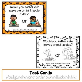 Would You Rather Opinion Task Cards Fall