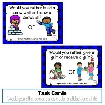 Would You Rather Opinion Task Cards Bundle