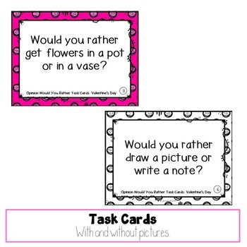 Valentine's Day Would You Rather Task Cards