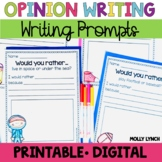Opinion Writing Would You Rather? Questions | Distance Learning