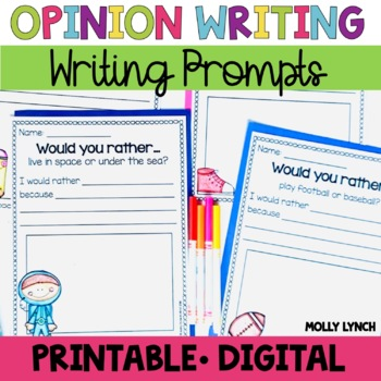 Would You Rather Opinion Writing