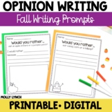 Would You Rather Opinion Writing {Fall Edition}