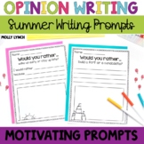 Would You Rather Opinion Writing {Summer Edition}