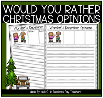 Opinion Writing and Graphing for Christmas