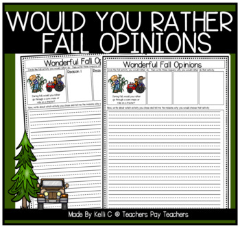 Opinion Writing and Graphing for Fall