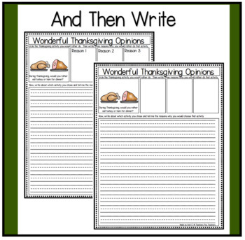 Opinion Writing and Graphing for Thanksgiving