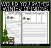 Opinion Writing and Graphing for Winter