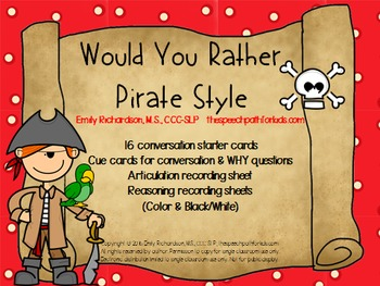 Would You Rather: Pirate style
