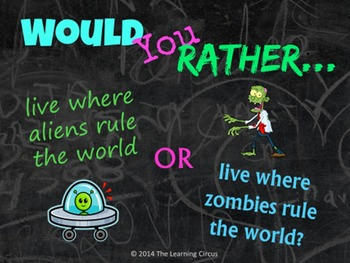 Would You Rather...? Back to School Activity