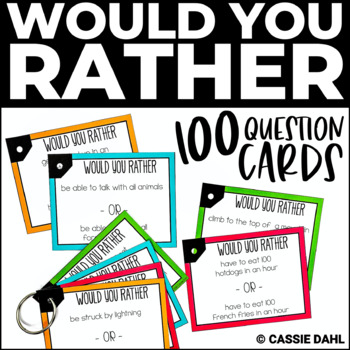 photograph regarding Would You Rather Cards Printable named Would Oneself Really