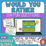 Would You Rather Questions - 204 Cards - Print, Digital Go