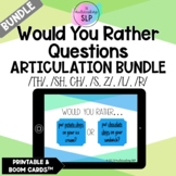 Would You Rather Questions -Articulation BUNDLE | Speech T