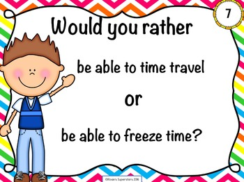 Would You Rather Questions: Presentation, QR Codes, and Task Card Formats