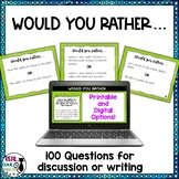 Would You Rather Questions for Discussion or Writing