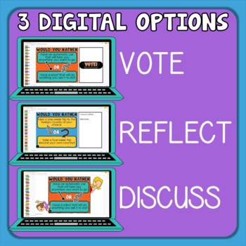 204 Would You Rather Questions Print on Cards or use with TpT Digital Activities