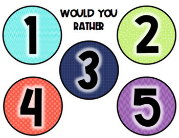 Would You Rather Reward System (VIPKid)