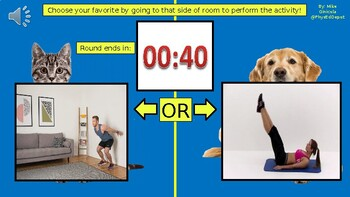 Would You Rather? Roblox Fitness Warm-Up - Powerpoint for PE