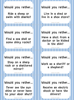 Would You Rather SH and CH