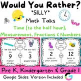 Would You Rather - SILLY - Kindergarten & Grade 1 Math Talks & Math Centers