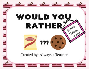 Would You Rather: Sample Edition