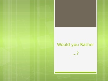 Would You Rather - Side of the Line Game