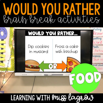 Would You Rather Slides Brain Break Activity - Food Frenzy