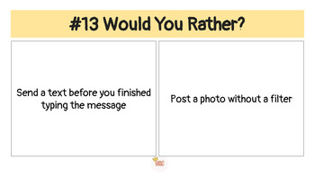 Would You Rather: Social Media Edition