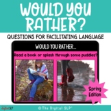 Would You Rather? {Spring} | Teletherapy | Distance Learning
