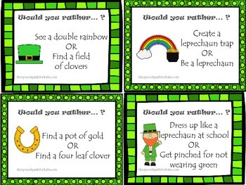 Would You Rather: St. Patrick's Day Style
