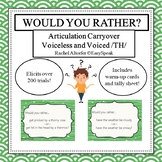 Articulation Carryover - Would You Rather - TH