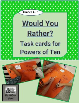 Would You Rather - Task Cards to practice Powers of Ten Prefixes!