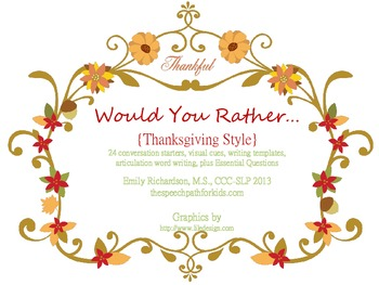 Would You Rather: Thanksgiving style