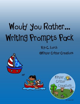 Would You Rather Writing Prompts Pack