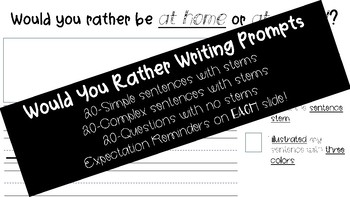 Would You Rather Writing Prompts for Primary (Stamina Building)