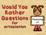 Would You Rather for Articulation - /r/ freebie