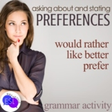 Grammar Conversations:  Would You Rather...