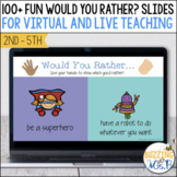 Would You Rather? slides for virtual and distance learning