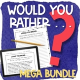 Would Your Rather Writing Prompts MEGA BUNDLE with Print &