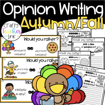 Opinion Writing Fall Themed