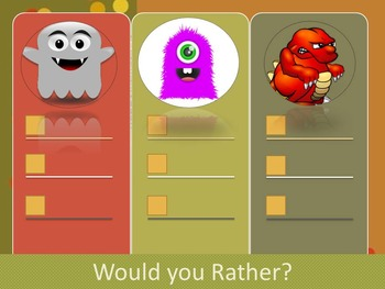 Would you Rather FALL EDITION with Verbs, Adjectives, Nouns, and Alliteration