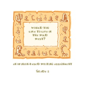 Would you like to live in the Wild West Writing Assignment