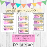 Would You Rather Ice Breaker Activity