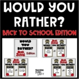 Would you rather? Back to school - DIGITAL
