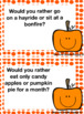 Would you rather..?? Fall Edition
