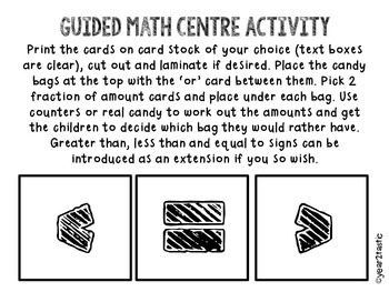 Would you rather…? Fractions Math Centre {year2tastic}