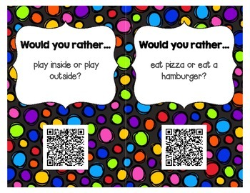 Would you rather...? - Get to Know You Activity with QR Codes