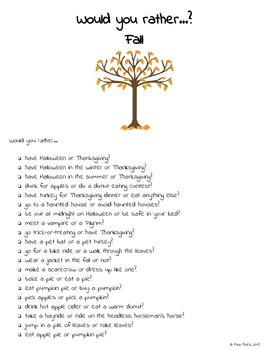 Would you rather...?   Holiday & Seasonal Writing Prompts
